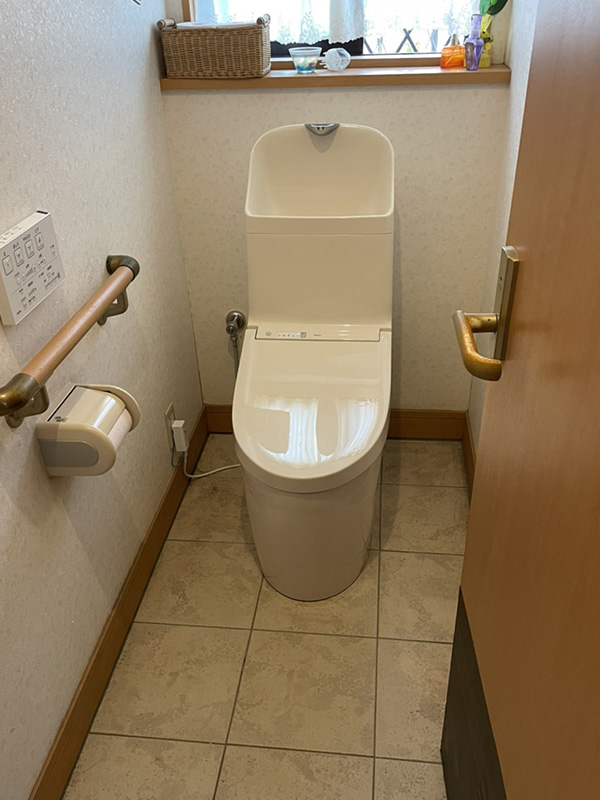 保工務店 トイレの便器取り換え後